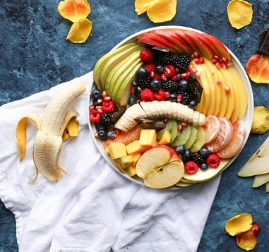 apple, banana, orange, guava, cherry, grapes