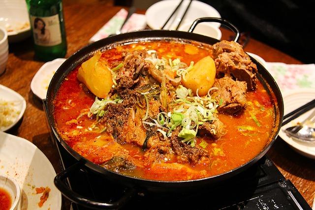 Potato curry with chicken recipe