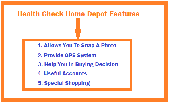 Health Check Home Depot Features